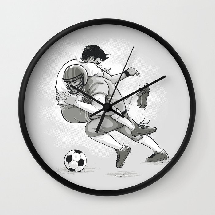 Football Design Wall Clock : This is football wall clock by naolito society