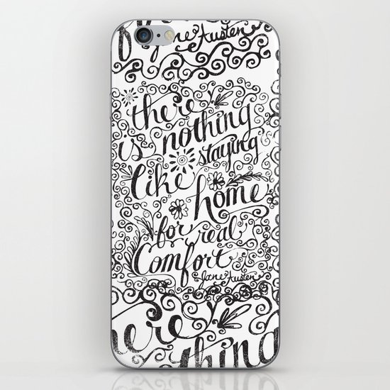 there is nothing like staying home... iPhone & iPod Skin