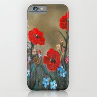 iPhone & iPod Case featuring Impasto Poppy Love - Talins Poppy Love by RokinRonda