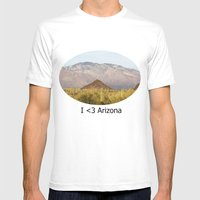 Saguaro National Park Mens Fitted Tee White SMALL
