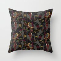 Geo Snakes Lead Throw Pillow
