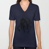 Black Cheetah Unisex V-Neck