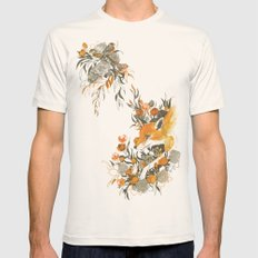 Fox In Foliage Mens Fitted Tee Natural SMALL