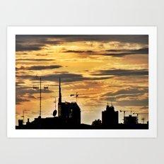 Milano City Skyline {Italy} Art Print