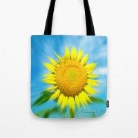 Sunflower Focus Tote Bag