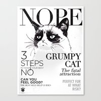 Grumpy The Cat Canvas Print