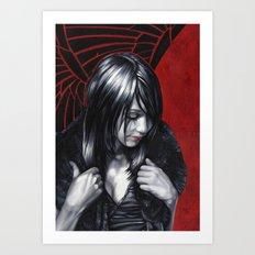 Emo Girl Art Print