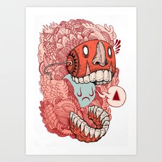 crazy mask Art Print