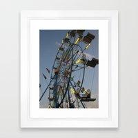 The Ferris Wheel Framed Art Print