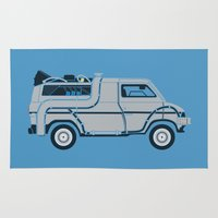Back to The Future DeloreVan Rug