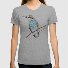 tree bird Womens Fitted Tee Athletic Grey SMALL