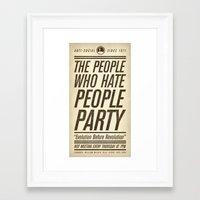 Don't Vote Now! Framed Art Print