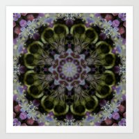 Bee Mandala Art Print