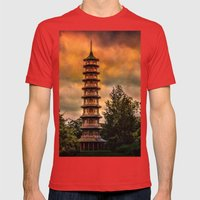 Kew Pagoda Mens Fitted Tee Red SMALL