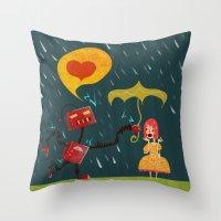 I Love You! Throw Pillow
