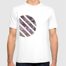 IPHONE: GEOCIRCLE Mens Fitted Tee SMALL White