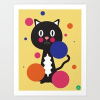 kitcat Art Print