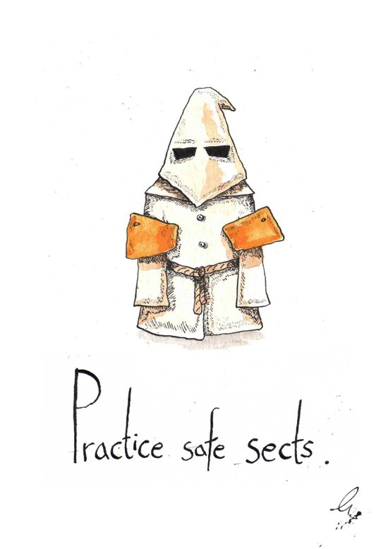 Practice Safe Sects Art Print