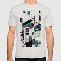 Triangled! Mens Fitted Tee Silver SMALL