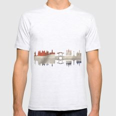 Amsterdam silhouette.  Mens Fitted Tee Ash Grey SMALL