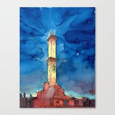 La Lanterna di Genova all'imbrunire Canvas Print