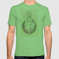 pinecone & cream Mens Fitted Tee Grass SMALL