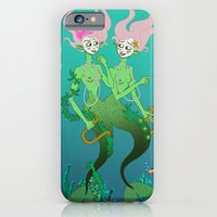 iPhone & iPod Case featuring Siamese Mermaids by AnaMF