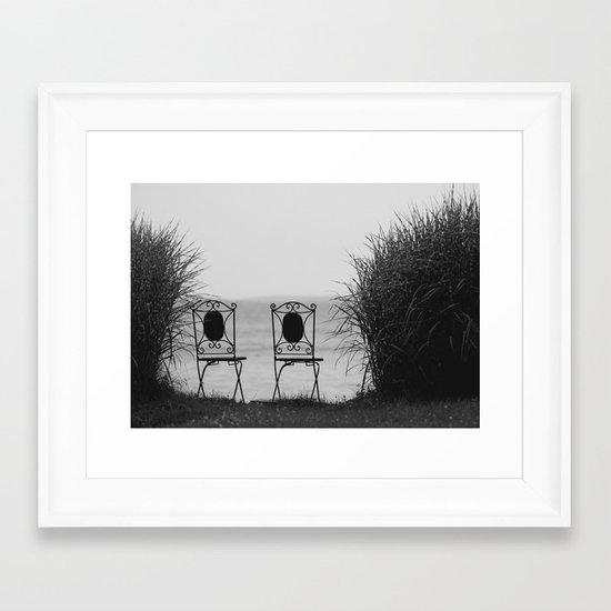 everybody left. Framed Art Print