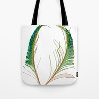 Peacock Love Dayglow Tote Bag