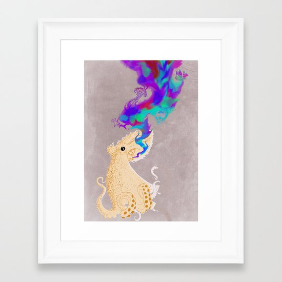 Black Oktopus and his colored ink Framed Art Print