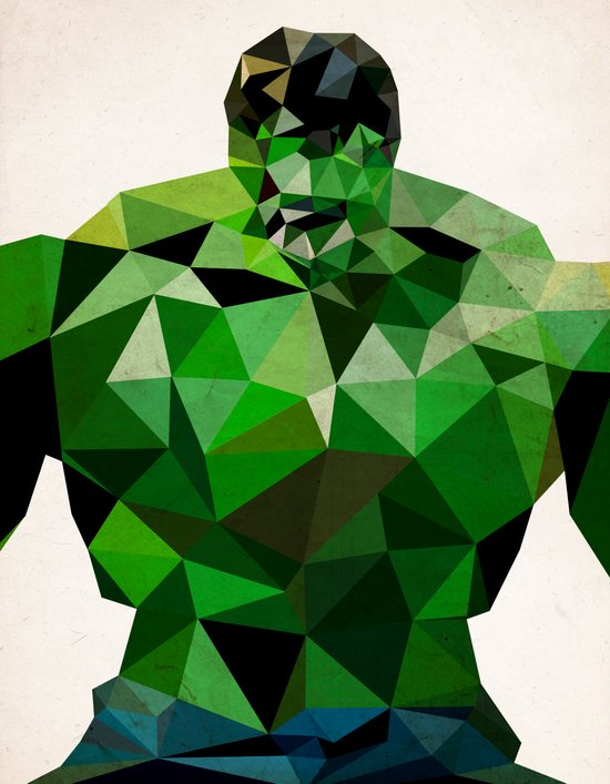 Polygon Heroes - Hulk Art Print
