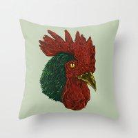 cock-a-doodle-Boo! Throw Pillow
