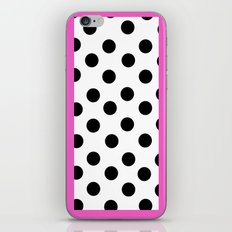 Pink and dots iPhone & iPod Skin
