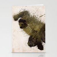 The Angry man Stationery Cards