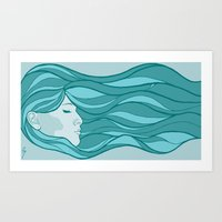 Deep Under Water Art Print