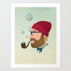 Soap bubble Hipster Art Print