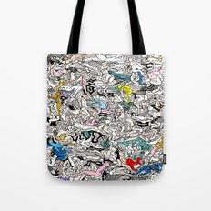Kamasutra LOVE Doodle Closeup Color Tote Bag