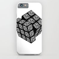 iPhone & iPod Case featuring qr cube by Mike Lee