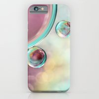 Bubble Abstract with Glitter Pink and Blue iPhone 6 Slim Case