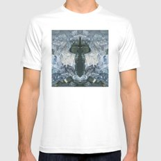 crystaux White Mens Fitted Tee SMALL