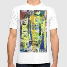 RICHTER SCALE 3 White Mens Fitted Tee SMALL