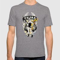 Tejas Mens Fitted Tee Tri-Grey SMALL
