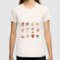 Desserts Womens Fitted Tee Natural SMALL