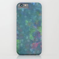 Blue and green abstract painting iPhone 6 Slim Case
