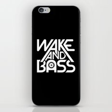 Wake And Bass (White) iPhone & iPod Skin