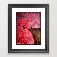 Jumping Off The Edge Framed Art Print