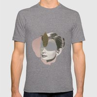 AUDREY HEPBURN - Actr3ss Mens Fitted Tee Tri-Grey SMALL