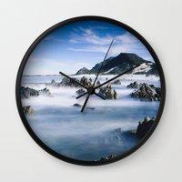 Long Exposure Seascape Wall Clock