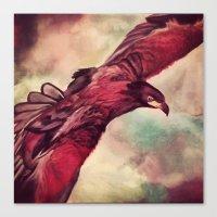 Eagle Splash Canvas Print