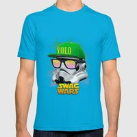 Stormtrooper Swag Mens Fitted Tee Teal SMALL